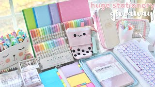 Huge school supplies haul ✨ stationery giveaway 2021