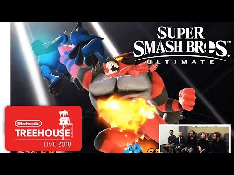 Super Smash Bros. Ultimate - Incineroar and Simon Gameplay - Nintendo Treehouse: Live