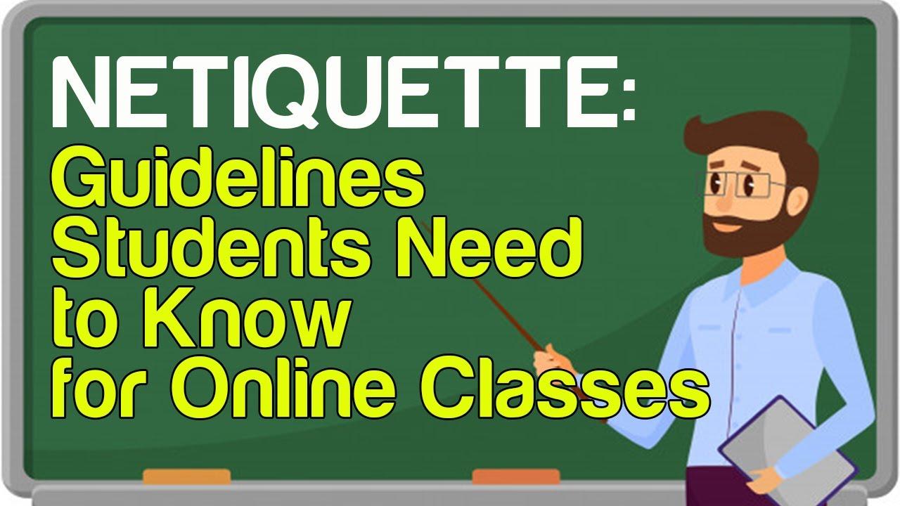 Etiquette internet examples of Online Etiquette: