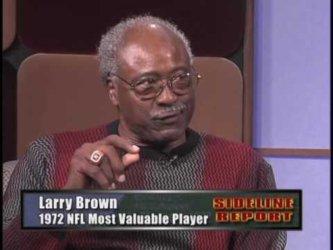 Running Back Larry Brown on Sideline Report #1610