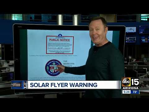 Arizona attorney general issues warning about fake solar initiative flyers