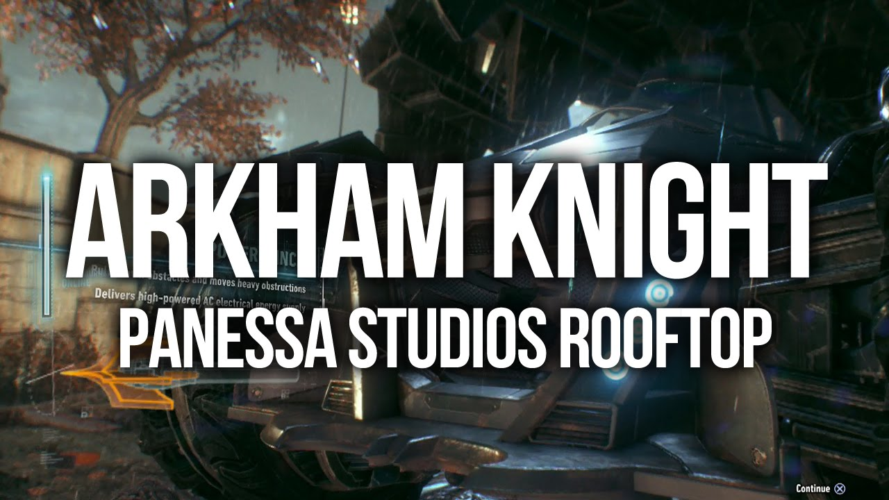 Batman Arkham Knight - Panessa Studios Antenna Walkthrough