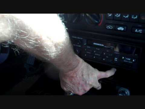 how to honda accord car stereo radio removal 1990 1993