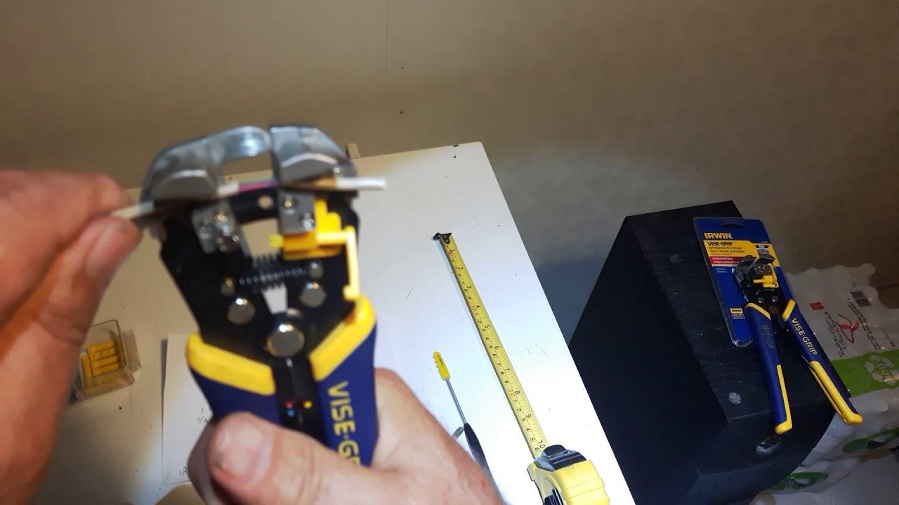 """8/"""" IRWIN VISE-GRIP 2078300 Self-Adjusting Wire Stripper"""