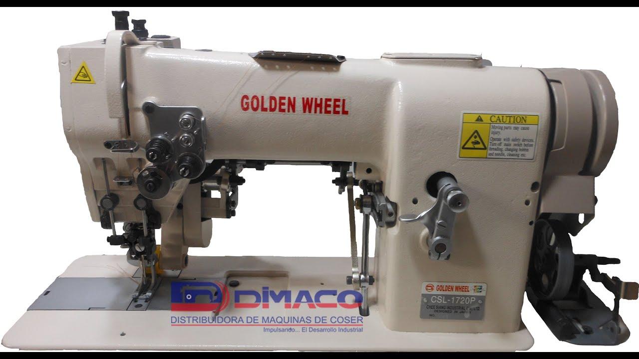 Máquina de coser tipo tru tru CSL-1720P - YouTube