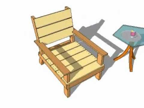 outdoor chair plans youtube