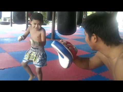 4 year old muay Thai fighter in Phuket,Thailand