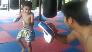 4 year old muay Thai fighter in Phuket,Thailand