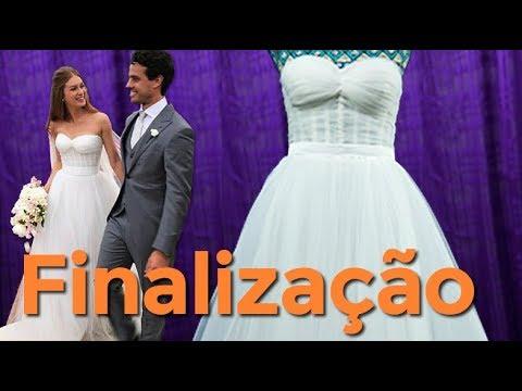 8b3ee8d7542 Vestido de Noiva Marina Ruy Barbosa - Passo a Passo  05 - YouTube