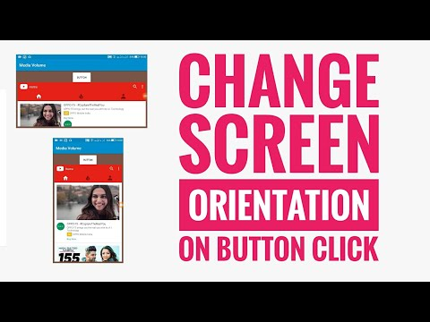 Change Screen Orientation On Button Click In Sketchware Android App