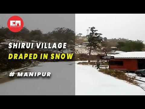 Manipur's Shirui village turns into a winter wonderland