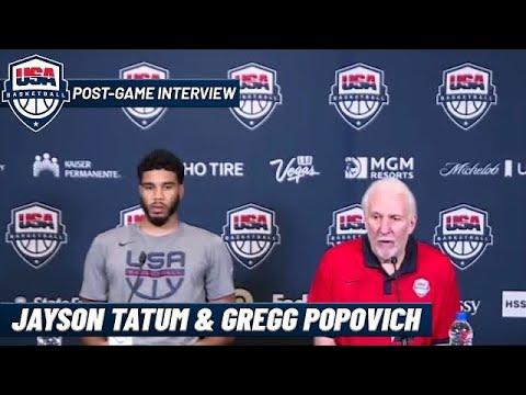 Jayson Tatum and Gregg Popovich on Team USA's Loss to Nigeria   Post-Game Interview
