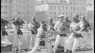 1917 Japanese Kendo Versus Bayonet (Fencing) -Mediterranean Sea