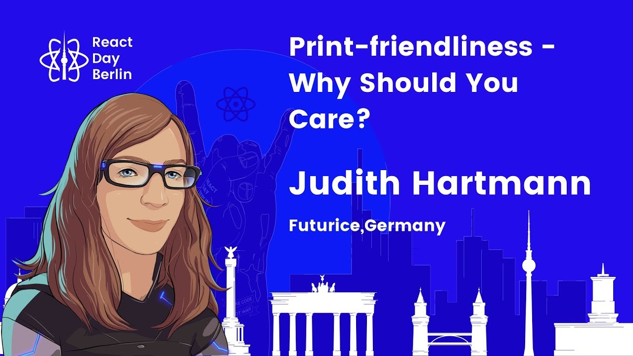 Lightning talks – Print-friendliness – Why should you care? – Judith Hartmann