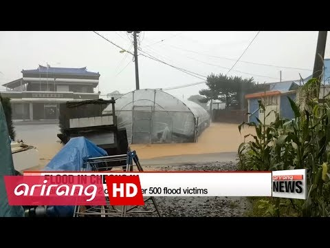 Torrential downpours hit Cheongju with extensive restoration process to take place