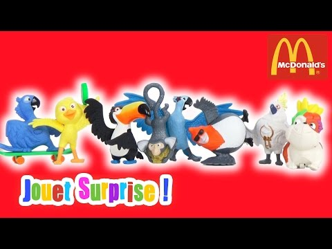 Rio Set 8 jouets Happy Meal Mc Donalds 2011 - Jouet Surprise
