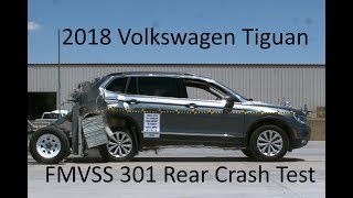 2018-2020 Volkswagen Tiguan (LWB) FMVSS 301 Rear Crash Test (50 Mph)