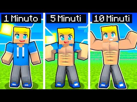 OGNI MINUTO DIVENTIAMO PIÙ MUSCOLOSI Su Minecraft!