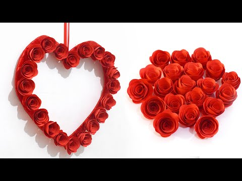 wall-hanging-craft-ideas-|-diy-paper-heart-wall-decor-|-beautiful-wall-decoration-ideas