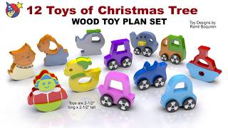 Wood Toy Plans - 12 Toys Of Christmas Tree
