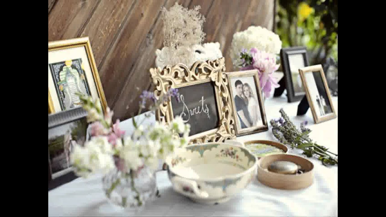 Small home garden wedding ideas youtube for Home wedding reception decorations