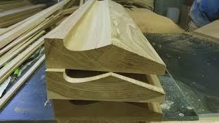изготовление фасадов из массива дуба хитрым способом. Проект 252