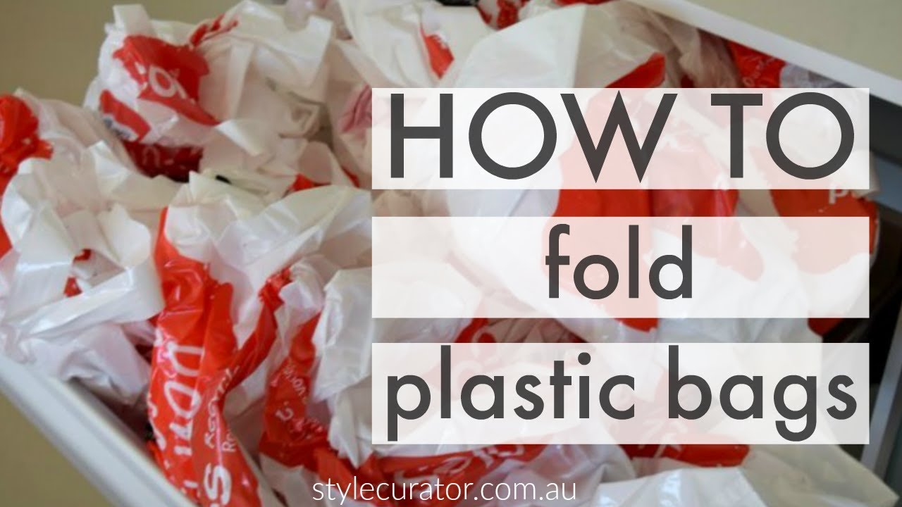 how to fold plastic bags quickest video on how to fold shopping bags into triangles youtube. Black Bedroom Furniture Sets. Home Design Ideas