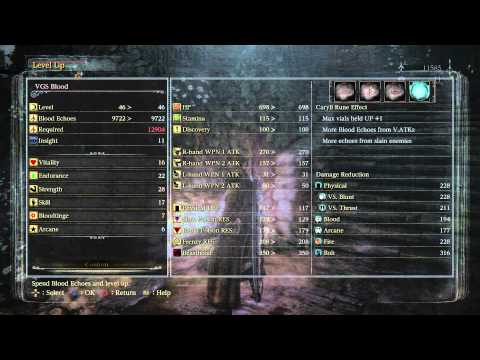 Bloodborne - Hunter's Dream: Level up Vitality via Plain Doll (Level 46 Overall) Gameplay Sequence