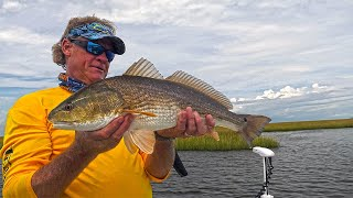 Louisiana Redfish Fishing Inshore on Lake Borgne