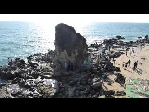 White sand beach north of twin rocks, Chaung Tha