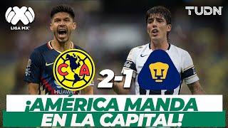¡Qué encontronazo! América derrota a Pumas en el Clásico Capitalino I América 2-1 Pumas AP-17 I TUDN
