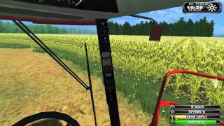 case ih 2388 combine harvesting barely farming simulator 2011