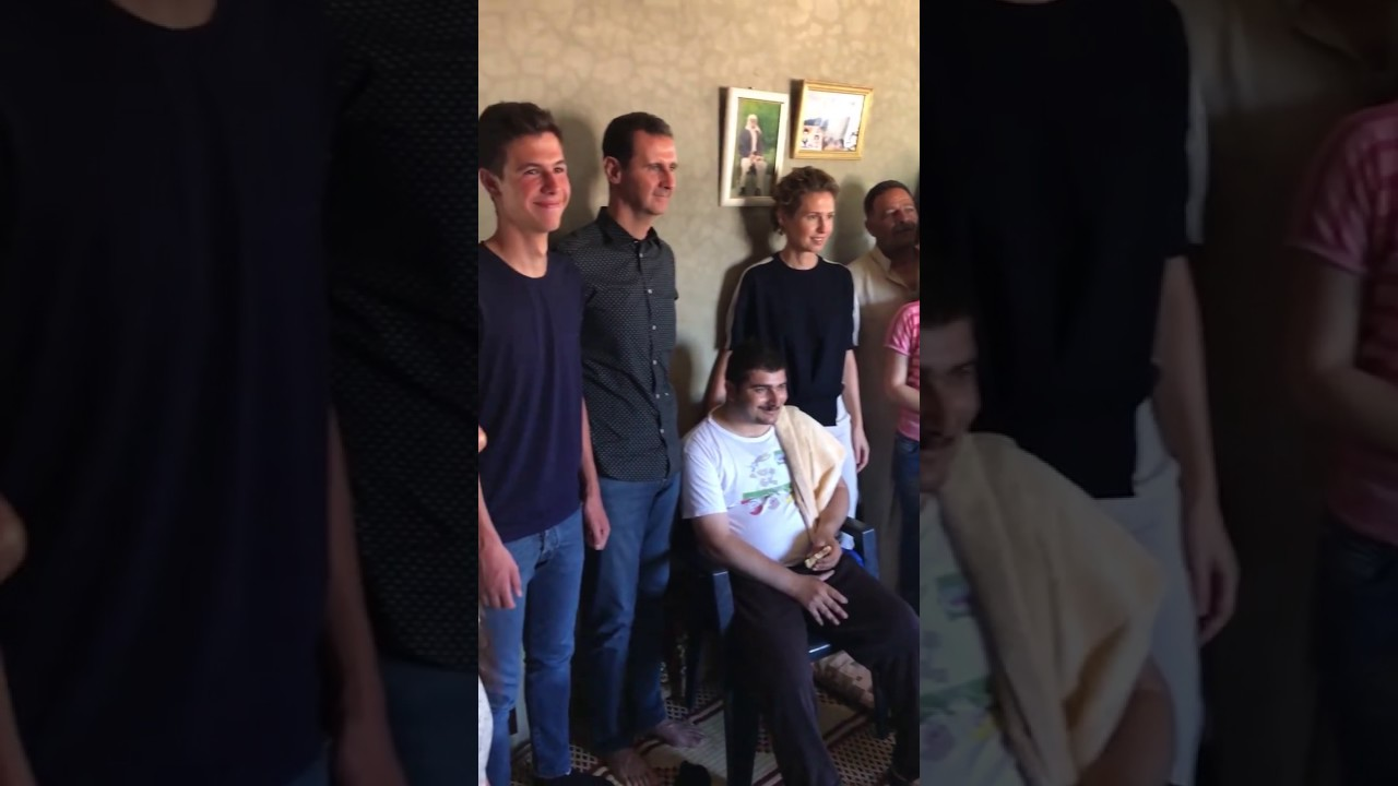 Assad & his family visit wounded Syrian soldier in Hama Syria