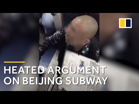 Chinese man gets into a heated argument with security on Beijing subway Mp3