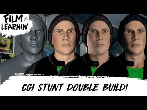 CGI STUNT DOUBLE BUILD Preview! | Film Learnin