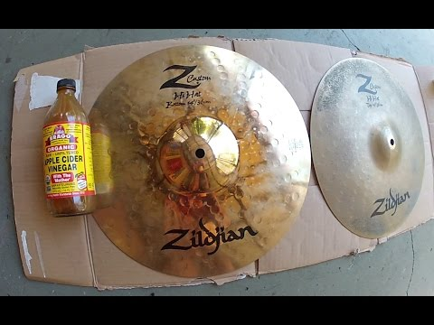 CLEANING ZILDJIAN HI HAT CYMBALS WITH APPLE CIDER VINEGAR
