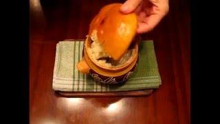 Сом в горшочке с картошкой, грибами и сметаной