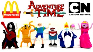 2015 ADVENTURE TIME McDONALD'S SET OF 7 HAPPY MEAL KIDS TOYS COLLECTION VIDEO REVIEW
