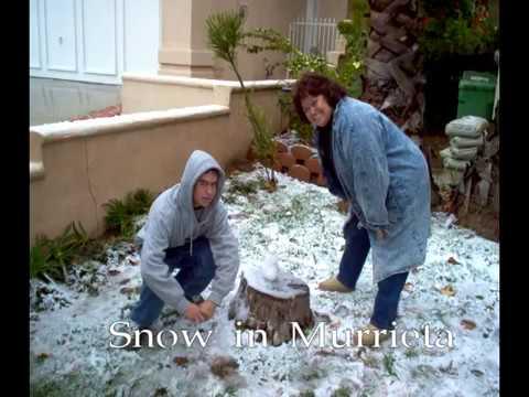 Snow in Murrieta November 2004