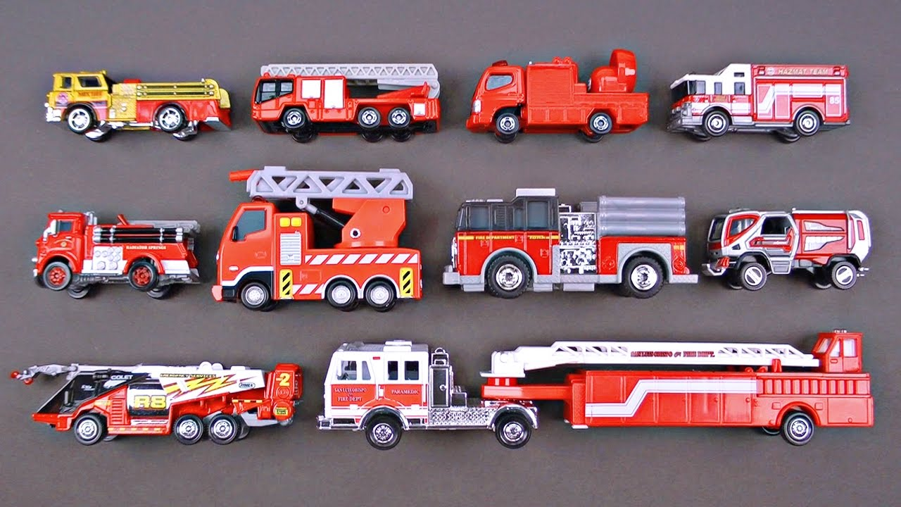 Best Learning Fire Trucks Fire Engines for Kids - #1 Hot Wheels Matchbox Tomica ??? Toy Cars - YouTube  sc 1 st  YouTube & Best Learning Fire Trucks Fire Engines for Kids - #1 Hot Wheels Matchbox Tomica ??? Toy Cars