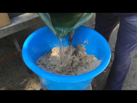 Mixing Refractory Cement For Your Pizza Oven