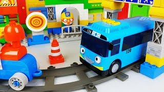 Tayo Bus car block and Train toys pororo play - 토이몽