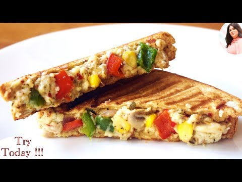 King of all sandwiches, Kids Tiffin recipe, Veg Italian Cheese Sandwich, Breakfast recipe, snack