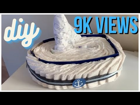 DIY With Me || Diaper 👶 🍼 Boat ⛵️ || First Time Making This!
