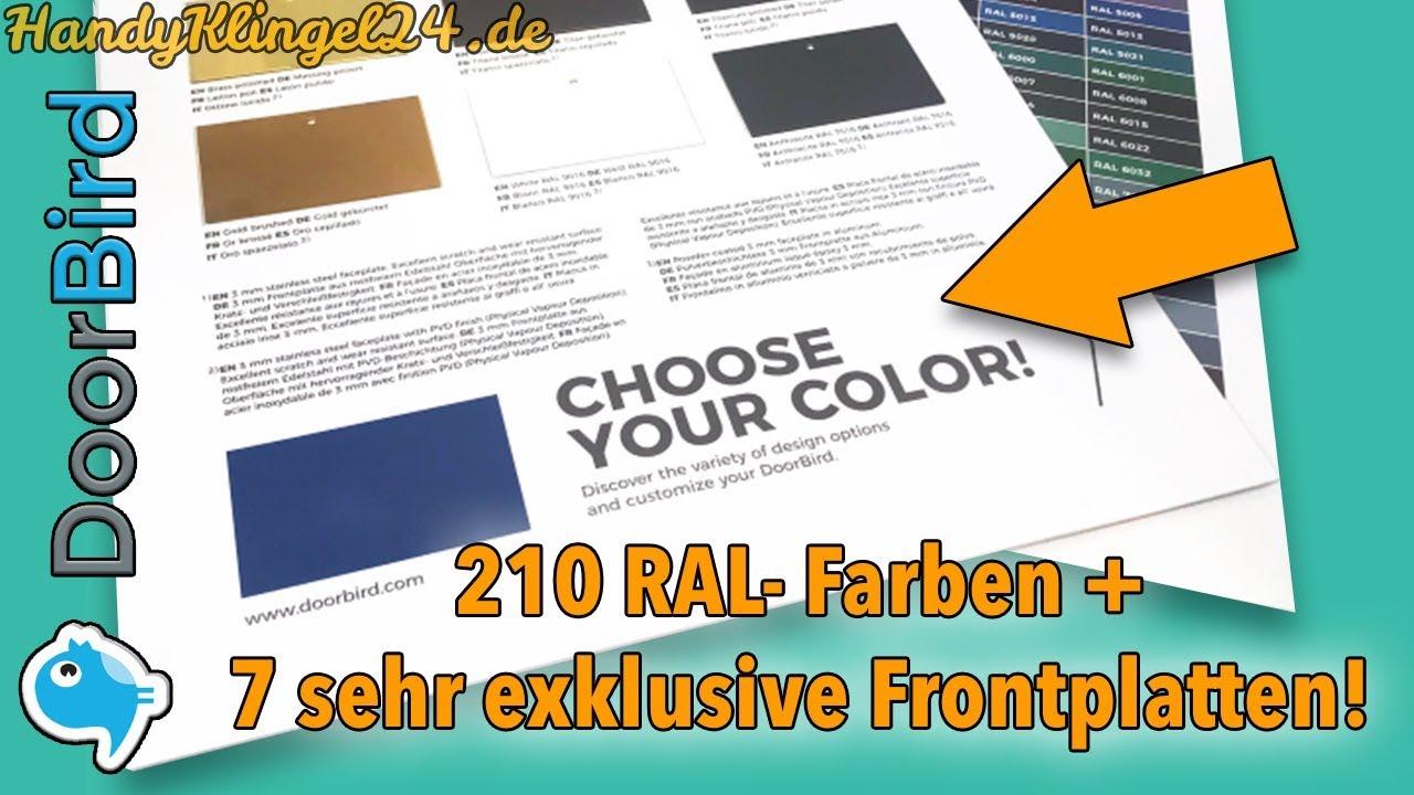 Doorbird In Chrom Poliert Gold Weiss Alle Ral Farben Ab Werk