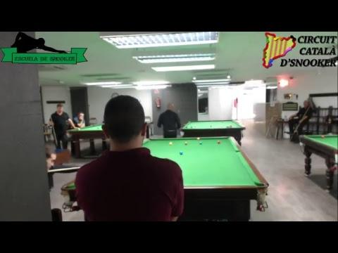 Aleix Melià VS Marius Petrea & Dani Soler (Circuit Català d'Snooker 2017/18)