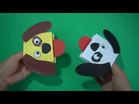 Diy easy paper Dog Hand Puppet craft ideas || Dog Hand Puppet Crafts For Kids