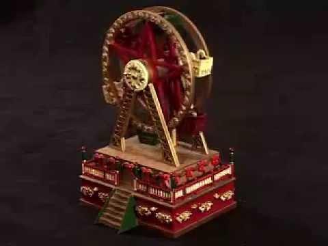Christmas Ferris Wheel Music Box.19705 Mr Christmas Mini Carnival Music Box Ferris Wheel