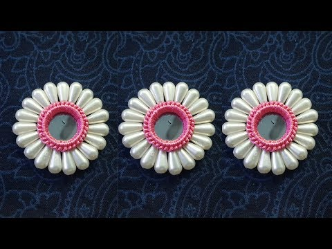 fancy mirror work for kurtis and kameez || ring mirror work || hand embroidery