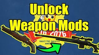 Fallout 76 - How to Unlock Weapon Mods And Craft Weapon Mods (Fallout 76 Guide)